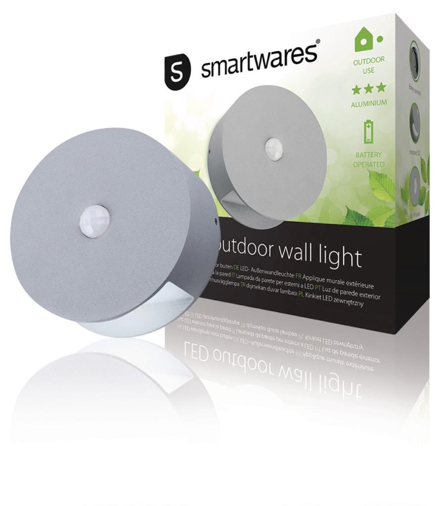 Ranex RA-1004236 Led Wandlamp Voor Buiten Met Sensor 0.5 W 60 Lm Grijs