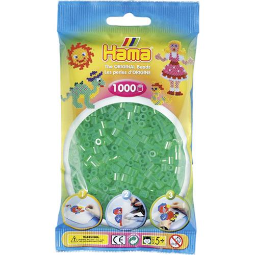 Hama Strijkkralen 1000 Stuks Groen Doorzichtig