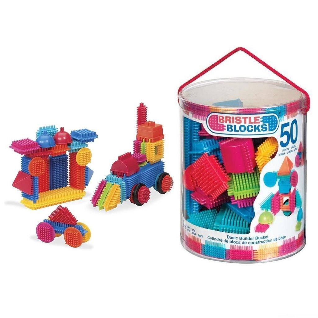 Bristle Blocks Emmer met 50 Stuks