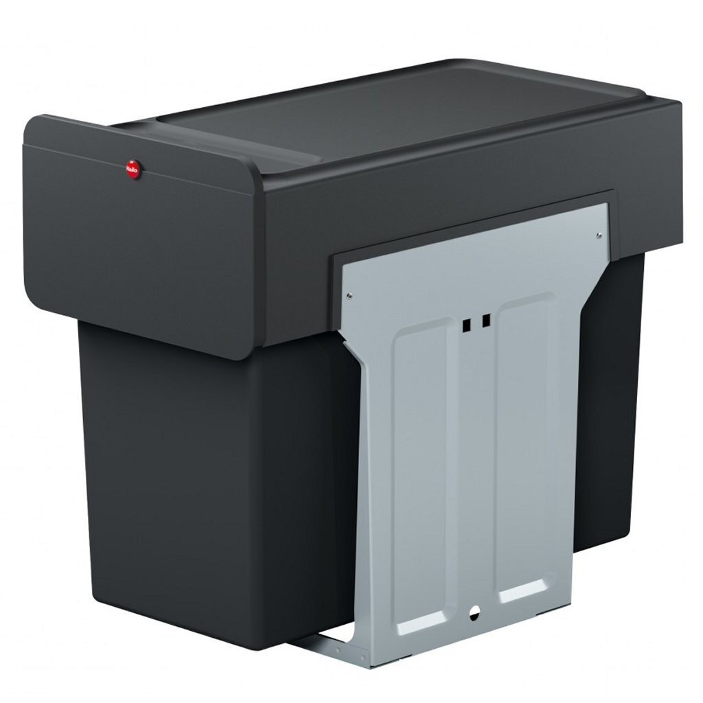 Hailo 0310-100 EcoLine Design L Inbouwafvalemmer 2x14L Zwart