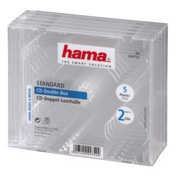 Hama CD Dubbel Box Transpirant 5 Pak