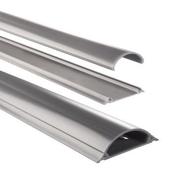 Hama Kabelgoot Halfrond 70mm Zilver 1M