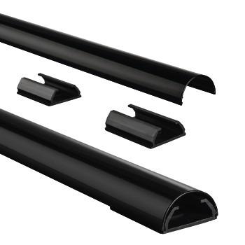 Hama Aluminium Kabelgoot Halfrond 33mm Zwart 1.1M