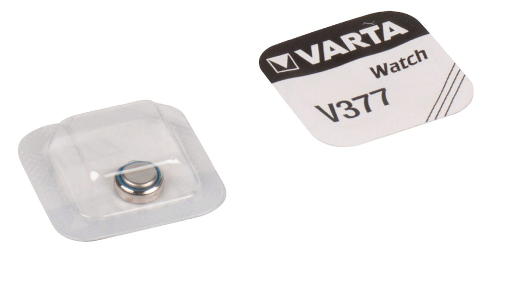 Varta V377 Knoopcel Batterij Zilver