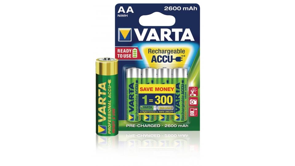 Varta VARTA-5716B Oplaadbare Nimh Batterij Aa 1.2 V 2500 Mah 4-blister