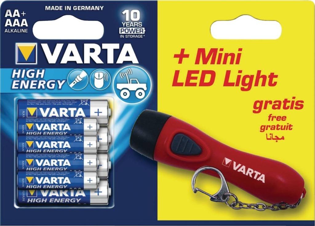 Varta VARTA-92400 Alkaline Batterij Aa High Energy 8-promotional Blister