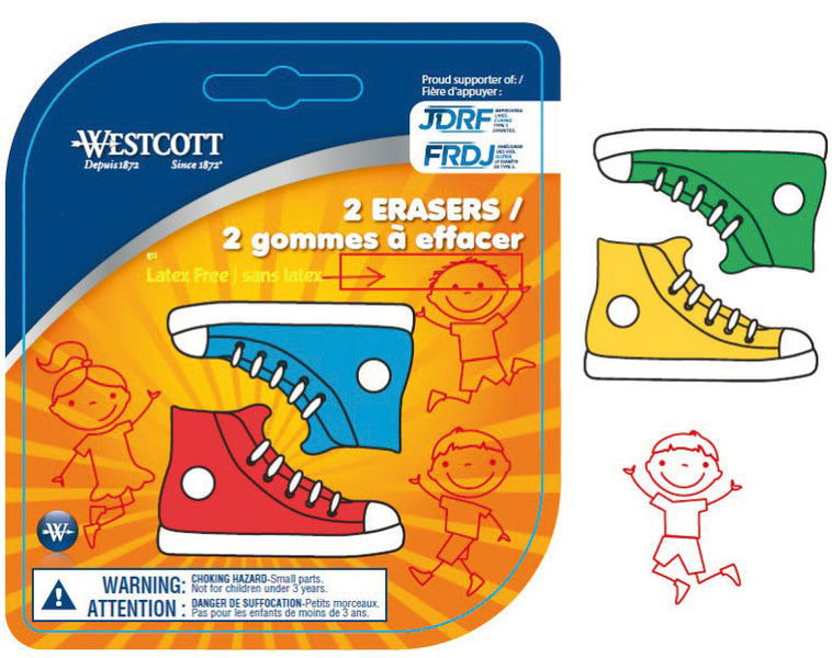 Westcott AC-E66060 Gum Sneakers 2 Stuks