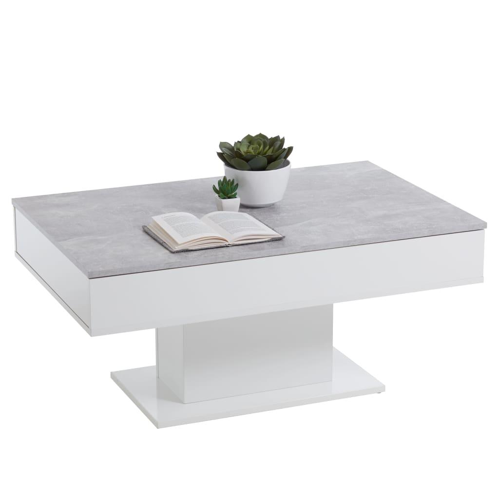 FMD Salontafel betongrijs en wit
