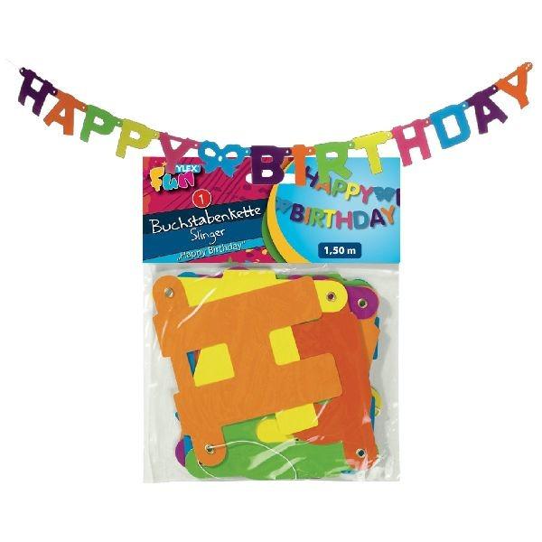 Happy Birthday Letterslinger 1,5 Meter