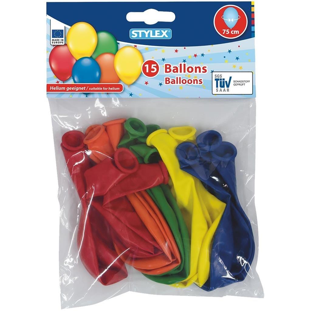 Stylex Helium Ballonnen 75 cm 15 Stuks