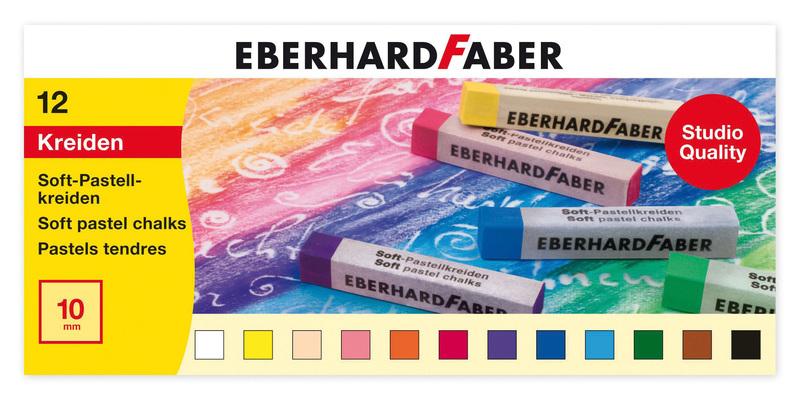 Eberhard Faber EF-522512 Pastelkrijt Vierkant Assorti Etui à 12 St.