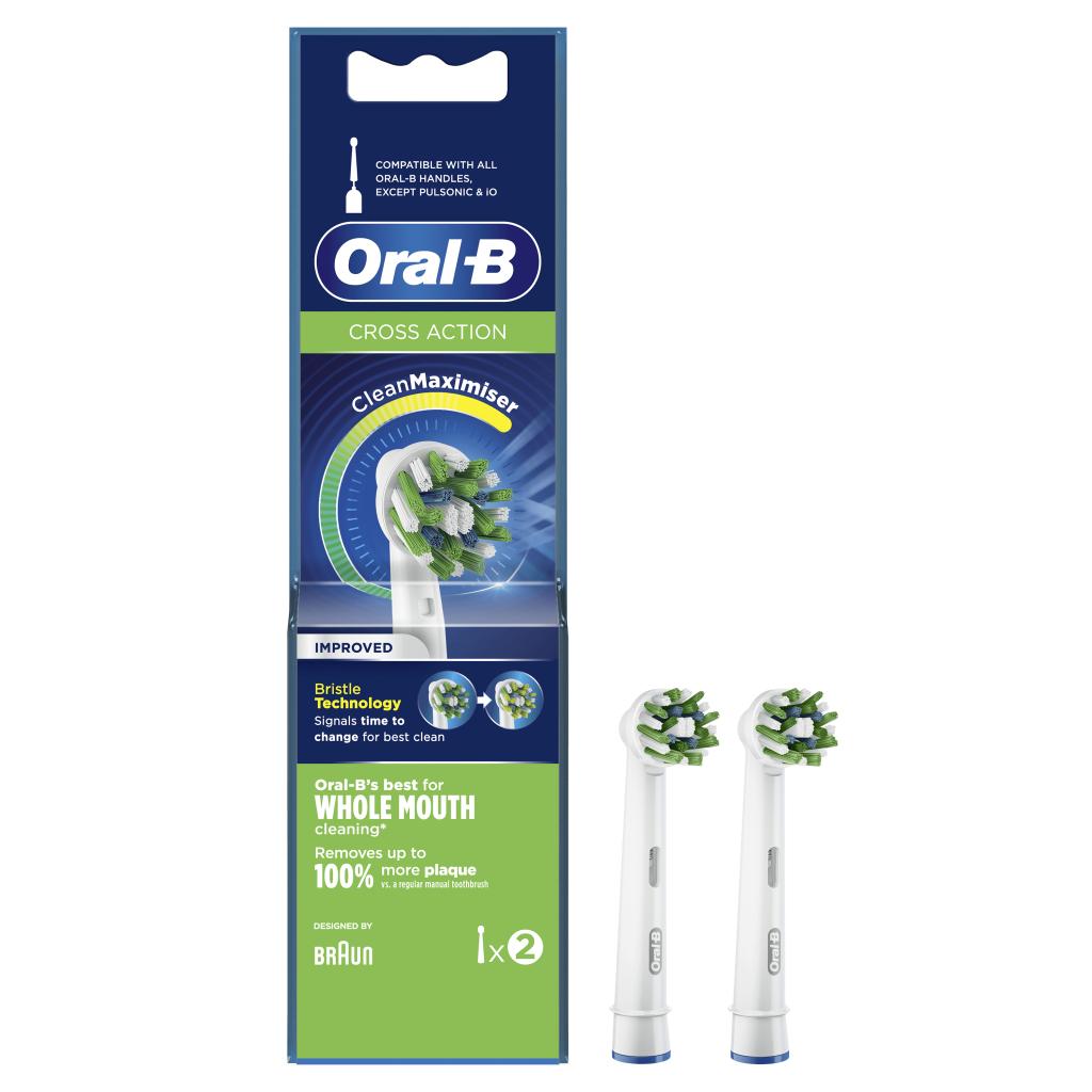 Oral-B CrossAction CleanMaximiser Opzetborstels 2 Stuks