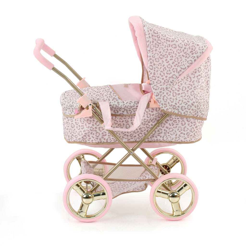 Hauck Little Diva Kinderwagen met Gouden Frame en Panterprint