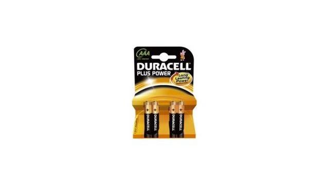 Duracell MN2400P4 Batterij AAA Plus 4x