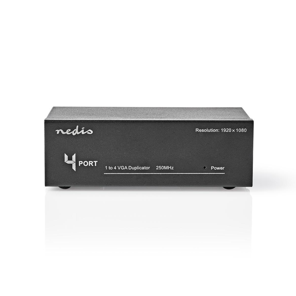 Nedis CSPL5904BK 4-port Vga-splitter Zwart