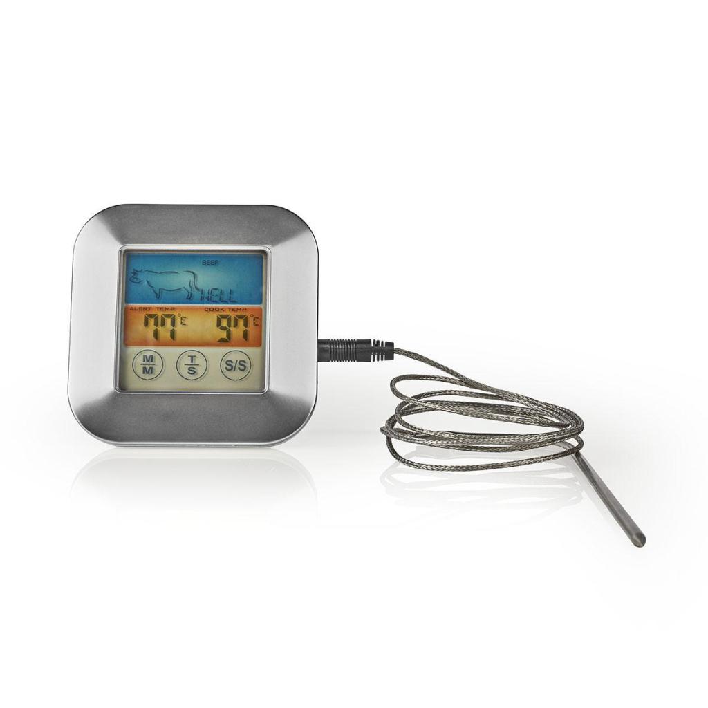 Nedis KATH106SI Vleesthermometer 0 - 250 °c Kleurendisplay Timer