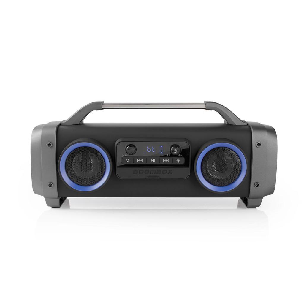 Nedis SPBB300BK Party Boombox 3 Uur Speeltijd Bluetooth® Draadloze Technologie Fm-radio Party-verlic
