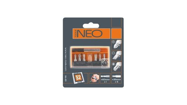 Neo Tools Bitset 7, Bithouder Magnetisch, S2 Staal