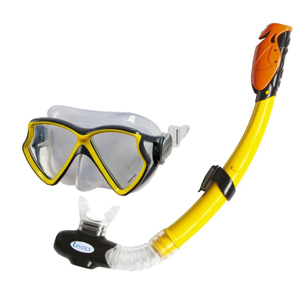 Intex Siliconen Aviator Pro Snorkelset 8+