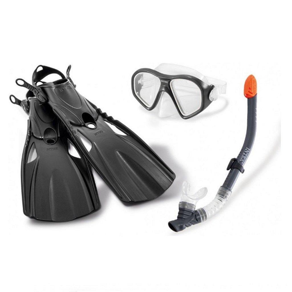 Intex 55657 Aquaflow Sport Reef Rider Zwemset 41-45 Grijs/Zwart