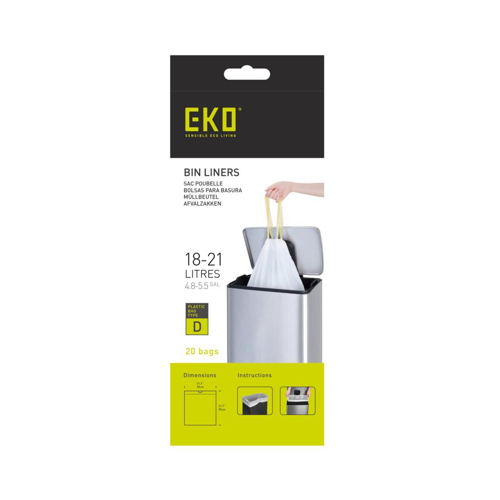 EKO Afvalzak Type D 18-21 Liter Rol met 20 Afvalzakken
