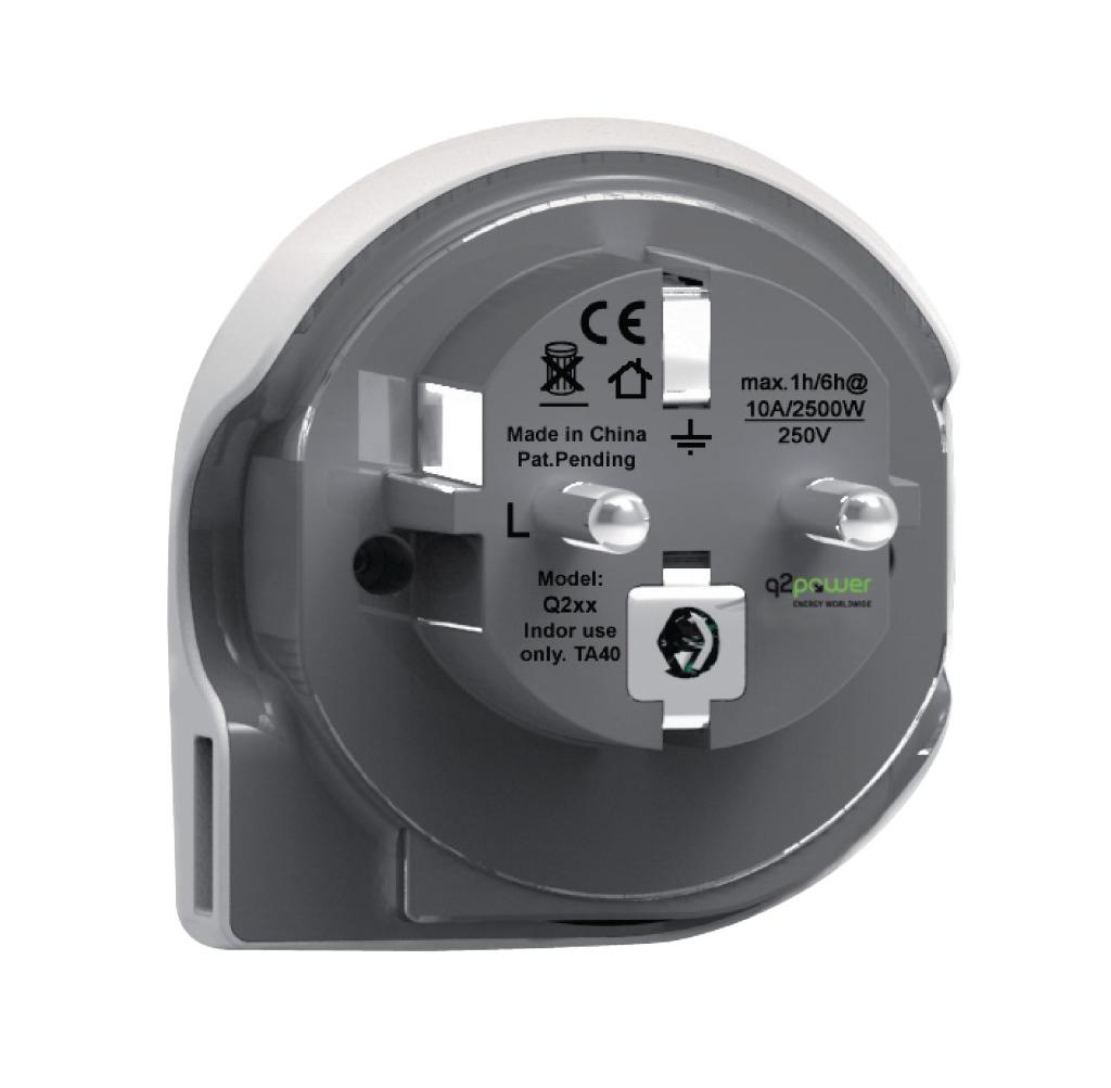 Q2 Power 1.100110 Reisadapter Wereld-naar-europa Usb Geaard