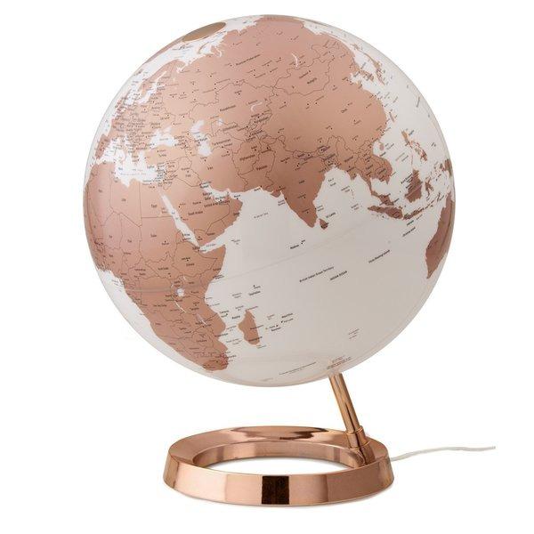 Atmosphere NR-0331F7NU-GB Globe Bright Copper 30cm Diameter Kunststof Voet Engelstalig