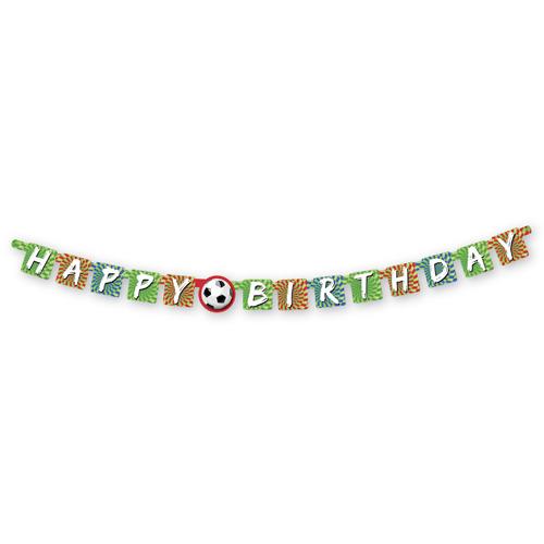 Sportieve Goal Happy Birthday Letterslinger