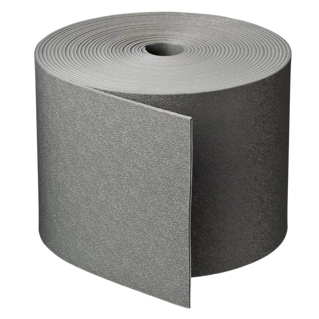 Borderrand grijs H15 cm x 10 m dikte 3 mm