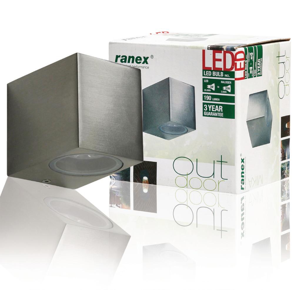 Ranex Ra-5000464 Smd Led Wandlamp voor Buiten Mika (5000.464)
