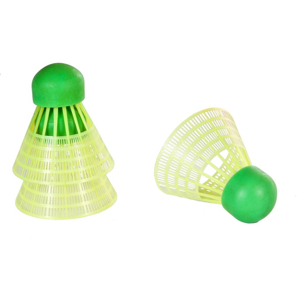 SportX Speed Badminton Shuttles in Koker 3 Stuks Neon Geel/Groen