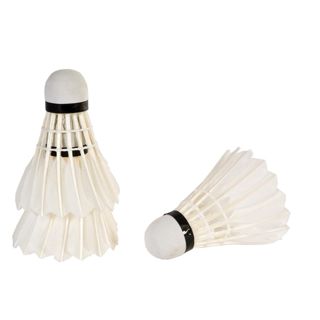 SportX Badmintonshuttles met Veren 3 Stuks Wit