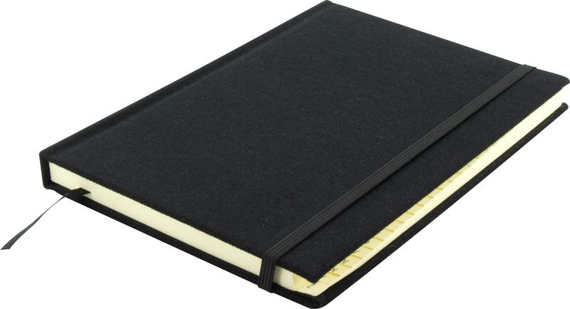 Kangaro K-5105 Alfabetboek A5 A-Z Linnen Hard Cover Zwart, 208 Pagina's, Leeslint, Elastiek