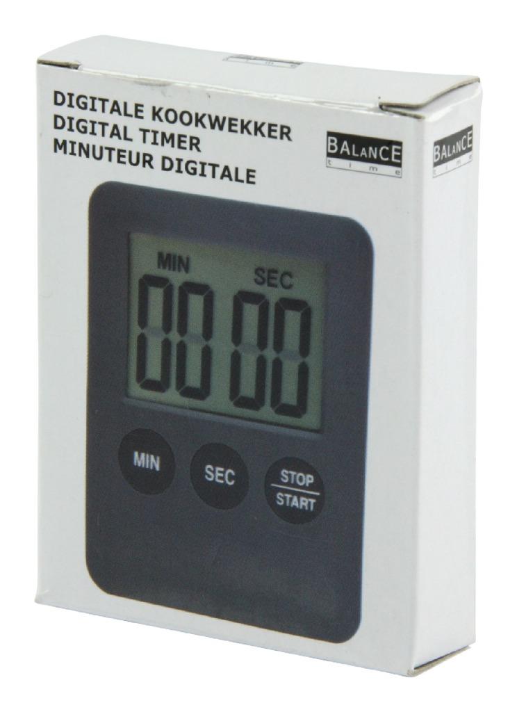 Balance HE-Clock-70 Digitale Kookwekker Grijs/Zwart