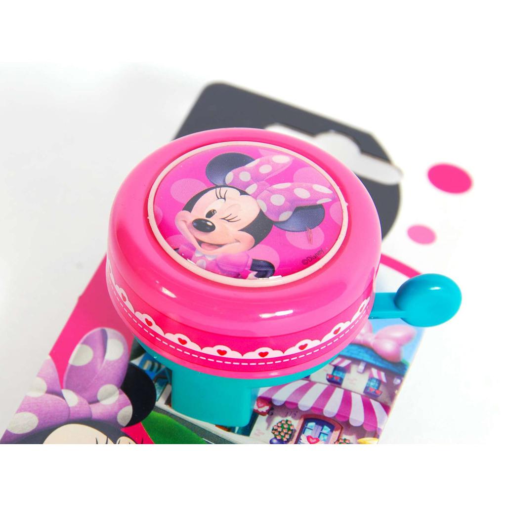 Disney Minnie Mouse Fietsbel Roze/Groen