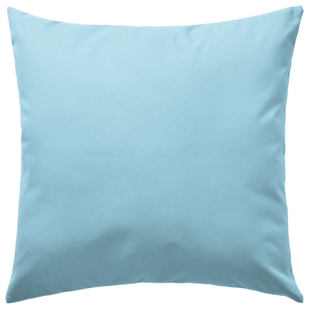 Buitenkussens 45x45 cm lichtblauw 4 st