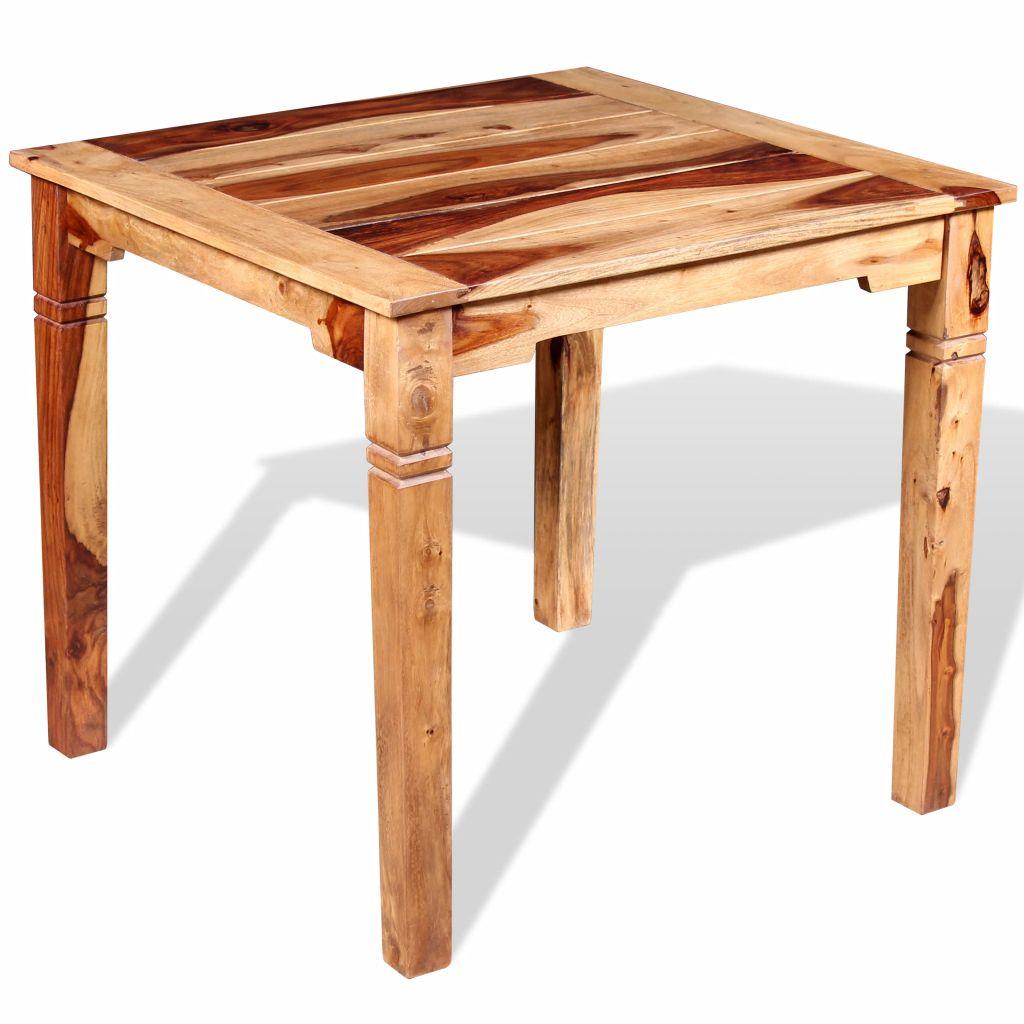 Eettafel 82x80x76 cm massief sheesham hout
