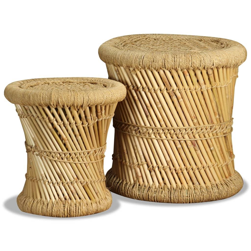 Krukken 2 st bamboe en jute