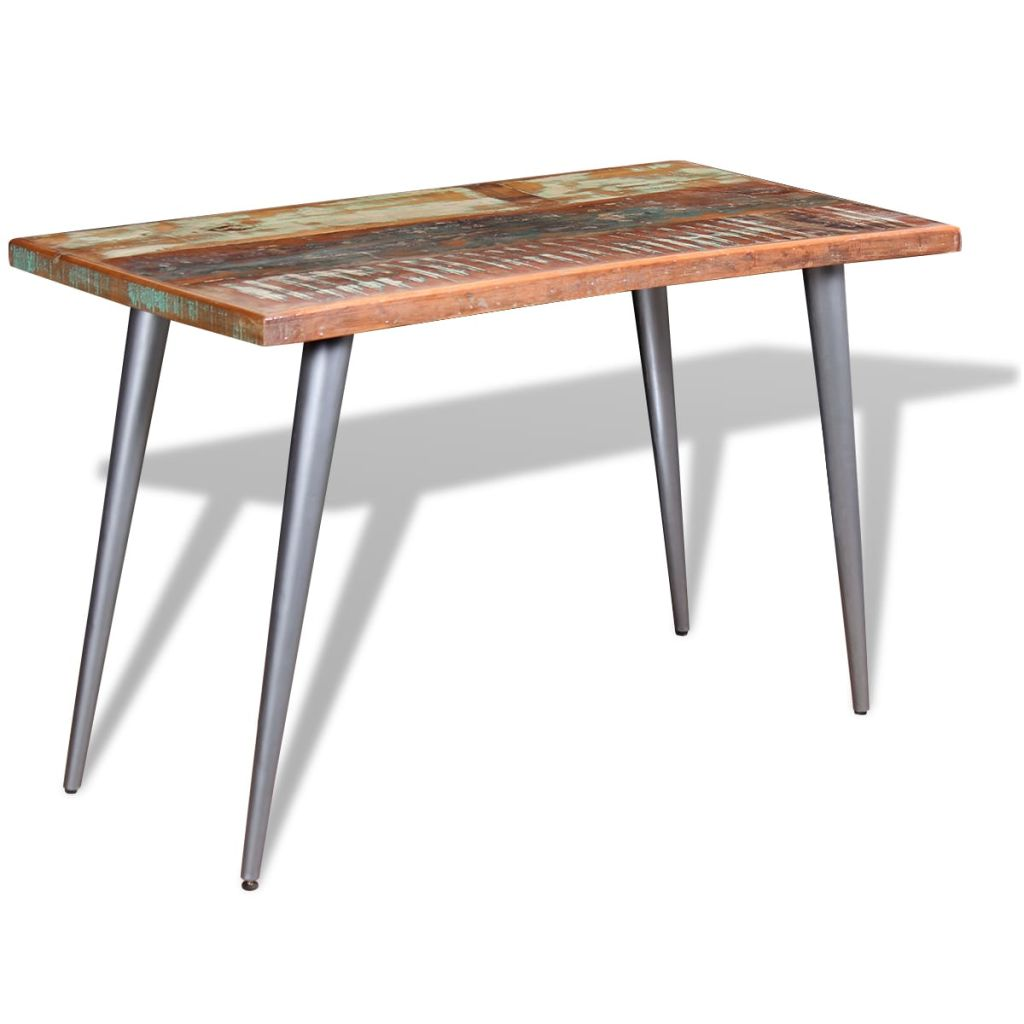 Eettafel massief gerecycled hout 120x60x76 cm