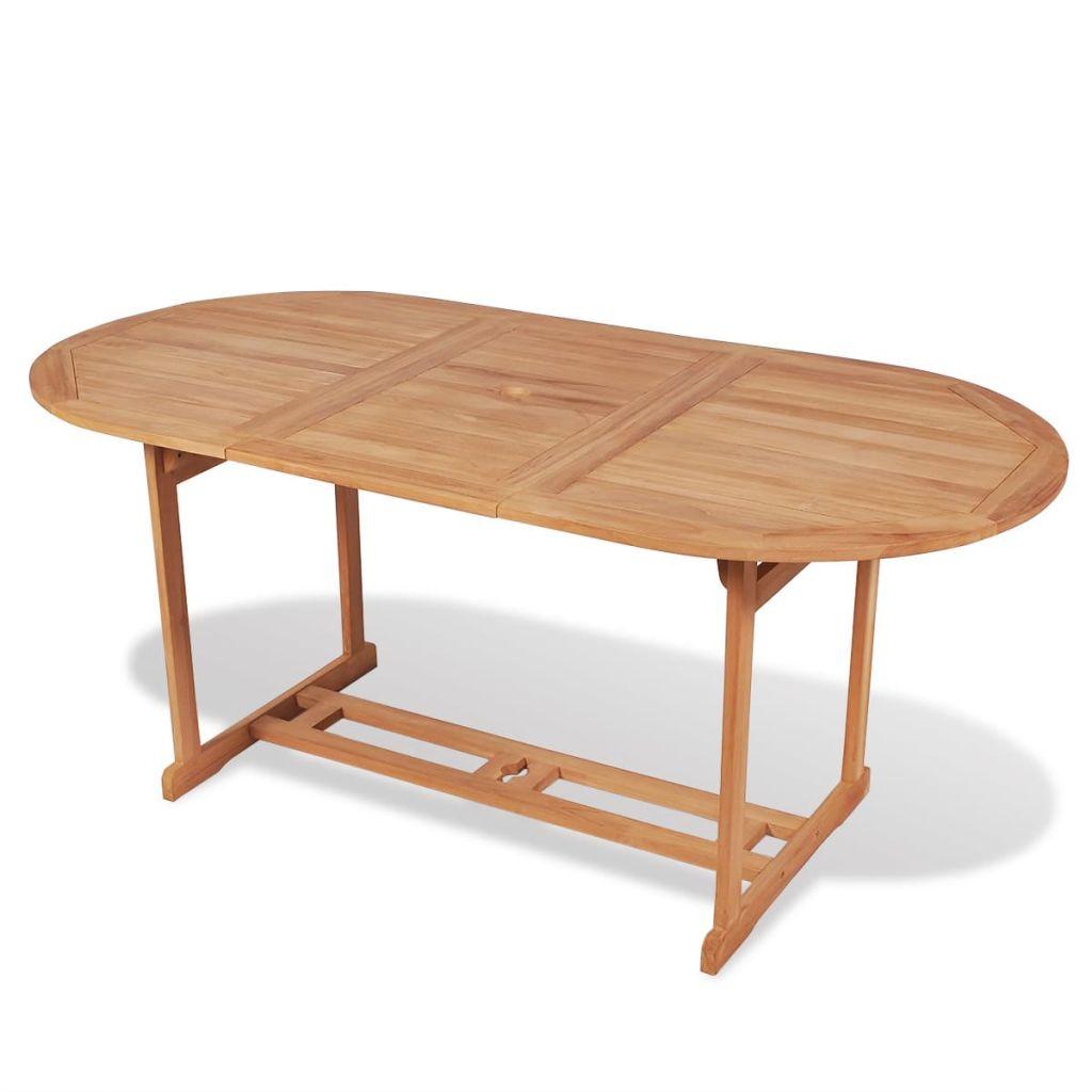 Eettafel voor buiten 180x90x75 cm teakhout