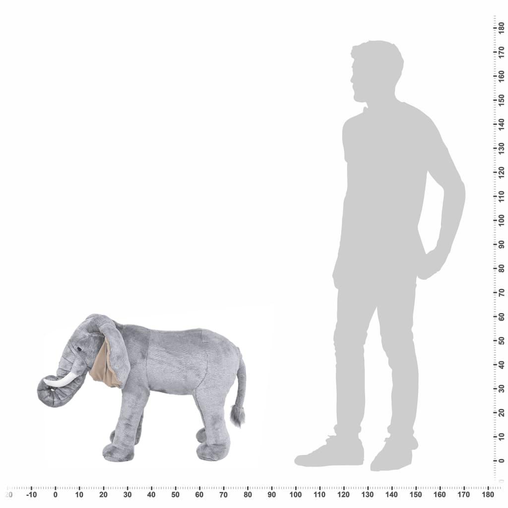 Speelgoedolifant staand XXL pluche grijs