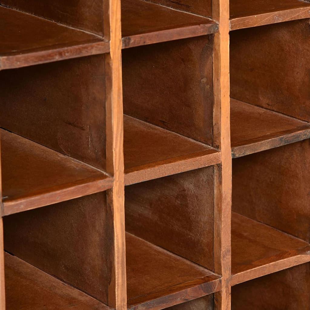 Wijnrek voor 16 flessen massief gerecycled hout