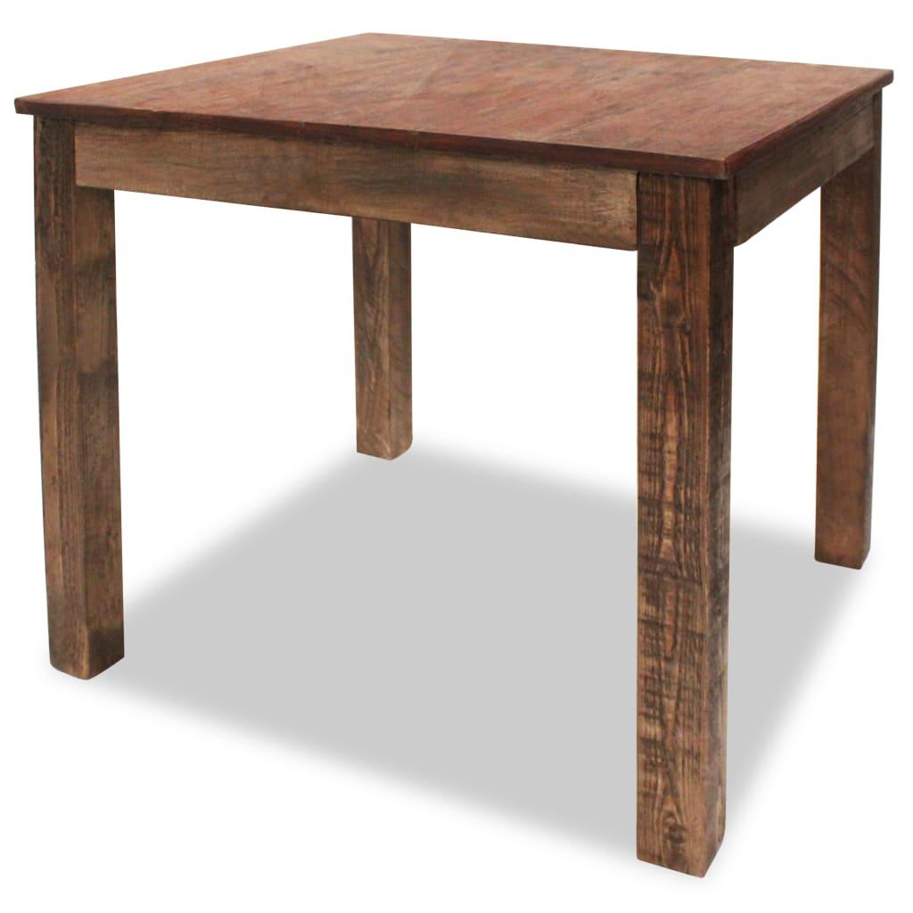 Eettafel 82x80x76 cm massief gerecycled hout