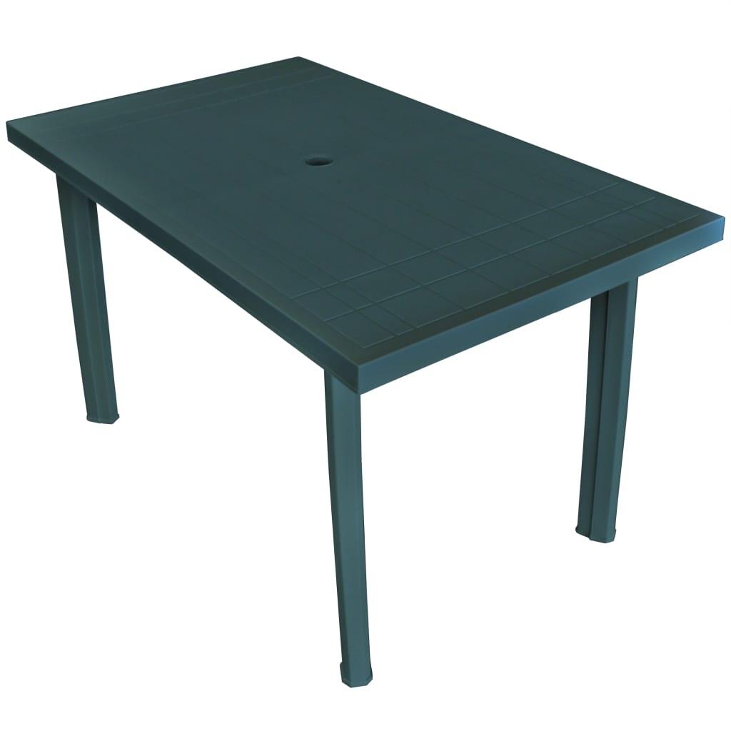Tuintafel 126x76x72 cm kunststof groen
