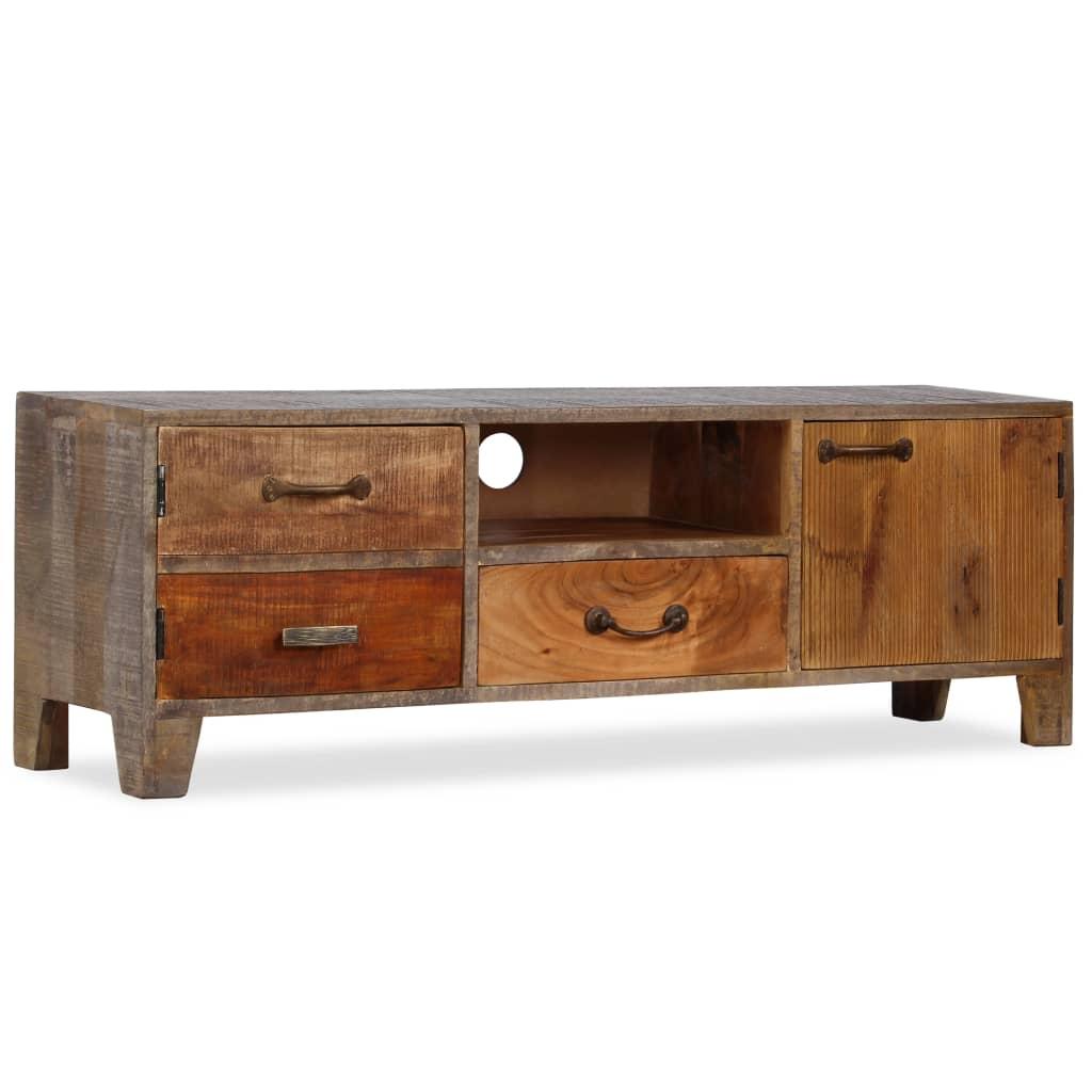 Tv-meubel vintage 118x30x40 cm massief hout