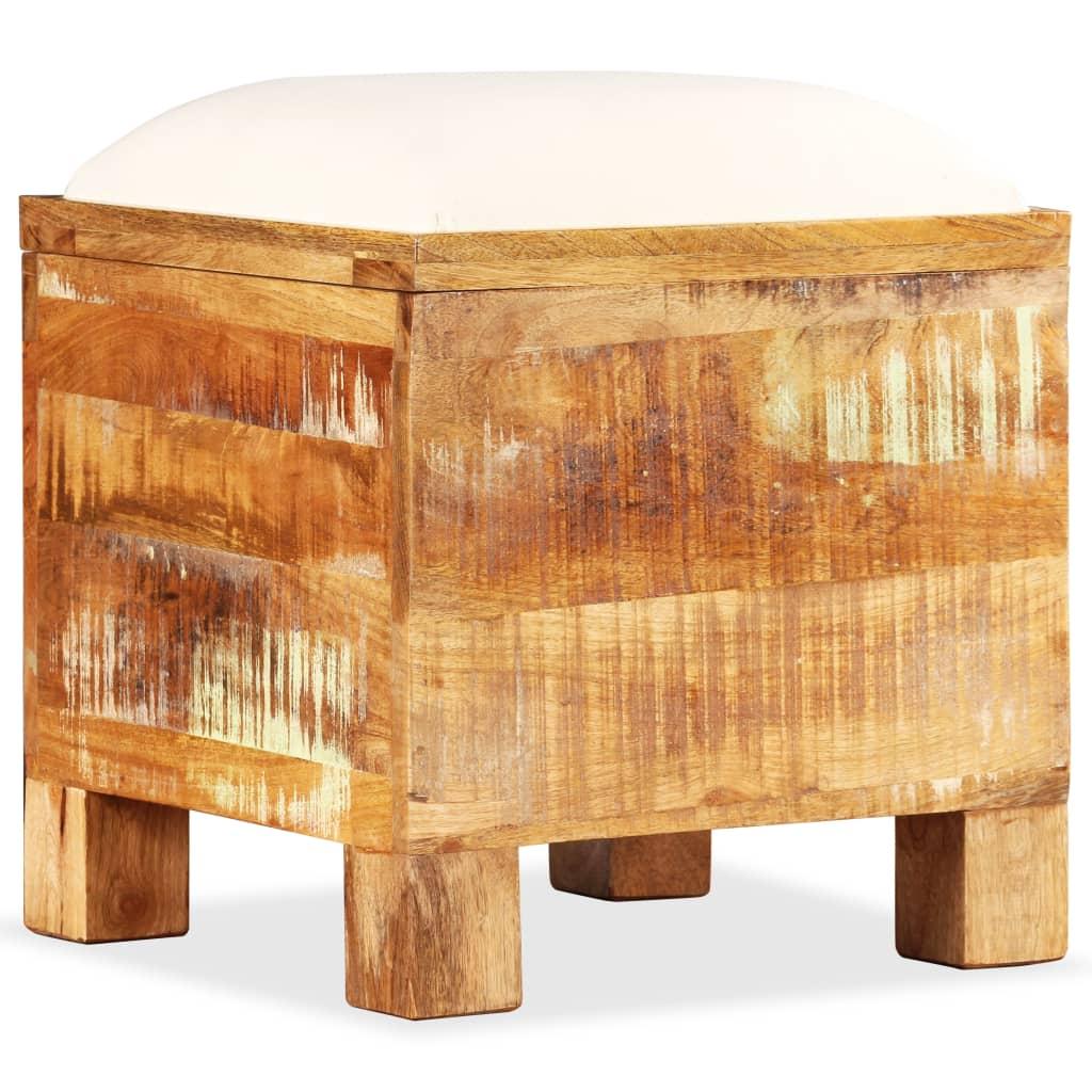 Opslagbankje 40x40x45 cm massief gerecycled hout
