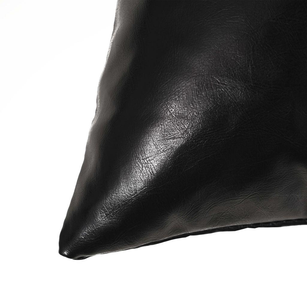 Sierkussenset 40x60 cm PU zwart 2-delig