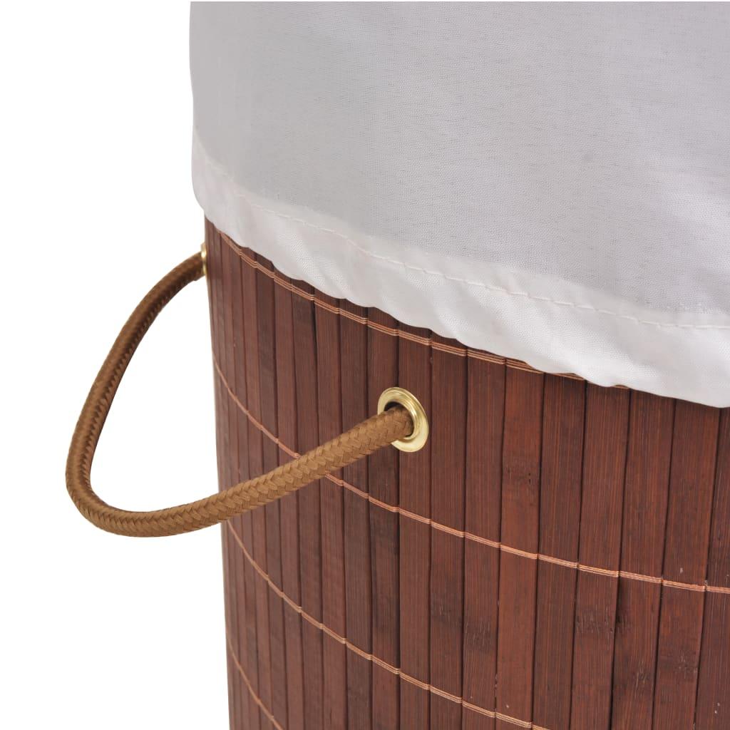 Wasmand rond bamboe bruin