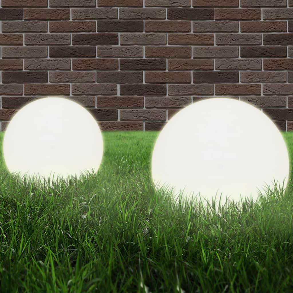 LED-bollampen 2 st rond 25 cm PMMA