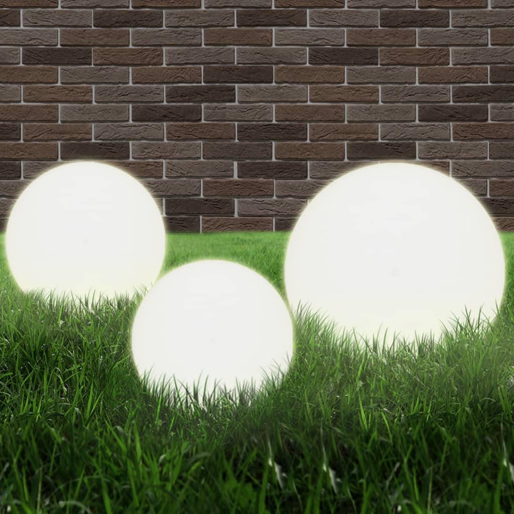 LED-bollampen rond 20/30/40 cm PMMA 3 st
